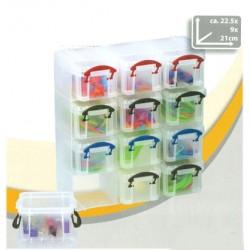 12stk plastlåder med lock