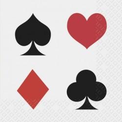 20pk Pokerservett 25x5cm