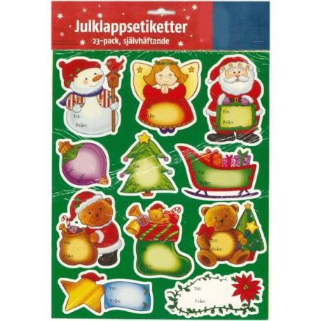 23-pack julklappsetiketter självhäftande
