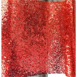 Decor rulle 28x250cm röd paljettglitter