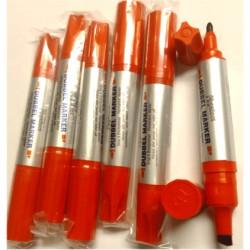 12 pack dubbelsidig marker Röd