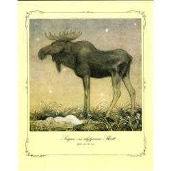 Sagan om älgtjuren skutt John Bauer 1913