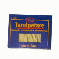 500st Tandpetare i ask flata