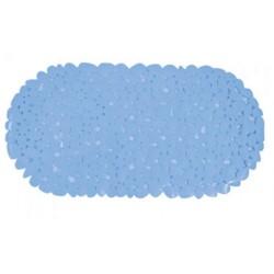 Badkarsmatta 35x68cm pvc ljusblå