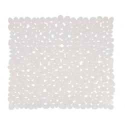Duschmatta 54x54cm pvc stone vit