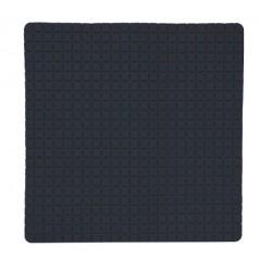 Duschmatta 54x54cm rutmönstrad svart
