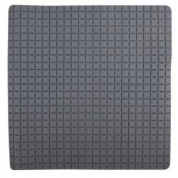 Duschmatta 54x54cm rutmönstrad grå