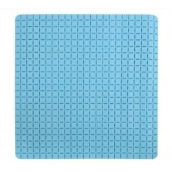 Duschmatta 54x54cm rutmönstrad ljusblå