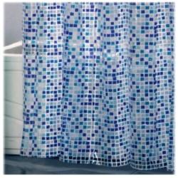 Pvc duschdraperier 180 x 200 cm - Blå Haag