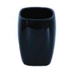 Tandbortsmugg i keramik svart