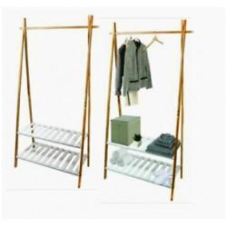 Klädställning i bambu 84 x 45 180 cm