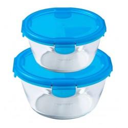 2pk Pyrex av borsilikatglas 0,7+1,6L