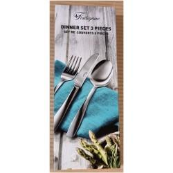 3 stk Fontignac matbestik i rostfritt stål