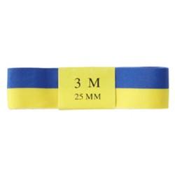 Sidenband blå/gul 25mmx3m