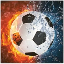 Servetter Football 3-lag 33cm 20pack