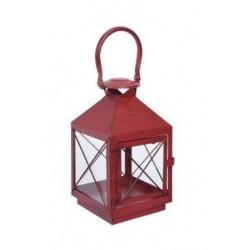 Lantern metal 25cm röd